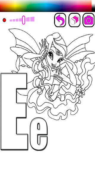 Coloring Book ABCs For Club Fairy Of Winx Edition