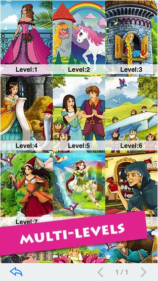 玩免費遊戲APP|下載Princess Girls T-Puzzle [2 Modes] app不用錢|硬是要APP