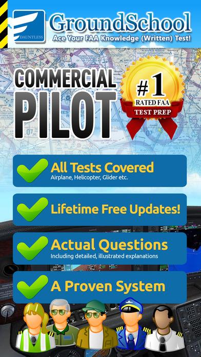 GroundSchool FAA Knowledge Test Prep - Commercial Pilot iPhone Screenshot 1