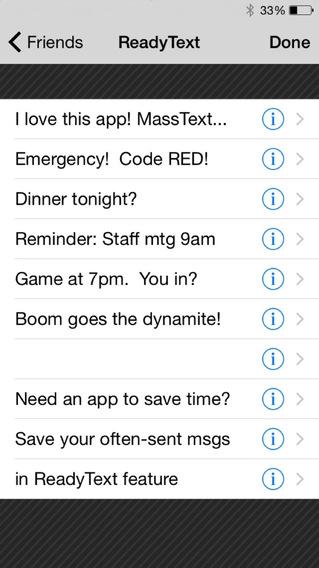 Mass Text Message iPhone Screenshot 3