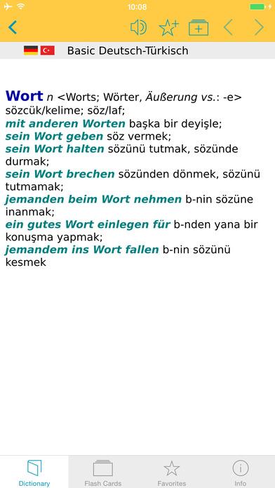 Turkish <-> German Dictionary Langenscheidt Basic iPhone Screenshot 5
