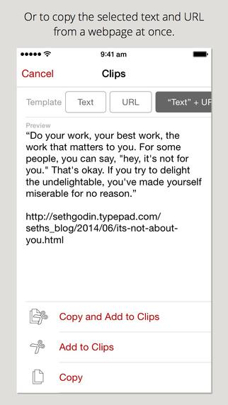 【视频评测】擦!原来在iPhone上,也可以一次性复制好几个不同文本!!——Clips评测