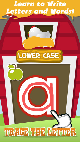 Letter Trace with Uppercase Lowercase and Short Words