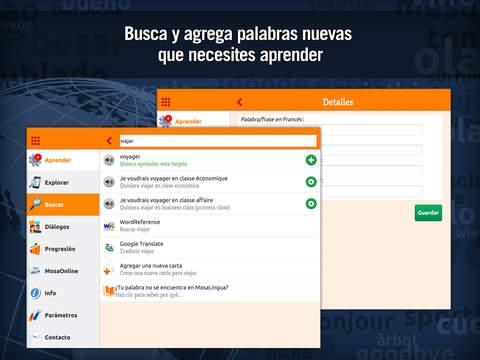 MosaLingua Francés: Aprender Francés rápidamente (Español ► Francés) iPad Screenshot 5