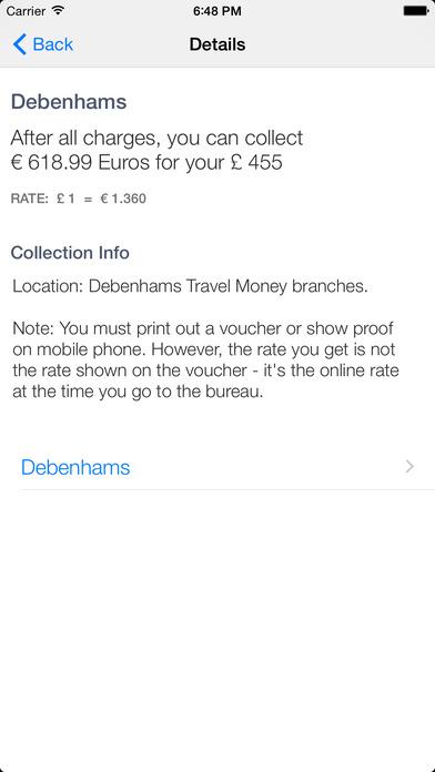 Travel Money Monkey iPhone Screenshot 5