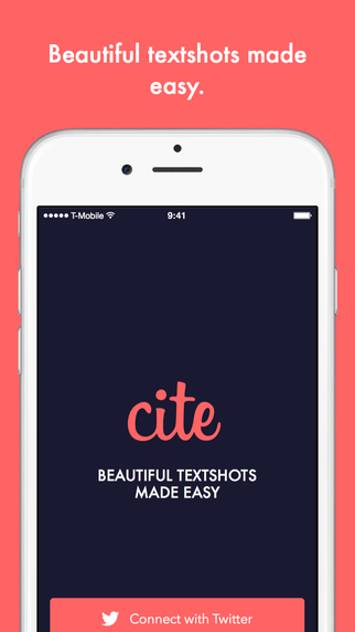 Cite - Beautiful textshots made easy