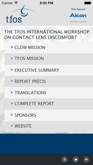 TFOS CLDW Report