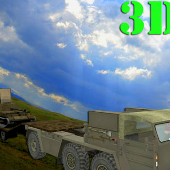 Transporter Truck 3D Army Tank - Drive the trailer in the newest Heavy Duty 3D Animated Cargo Truck driving simulation game 遊戲 App LOGO-硬是要APP