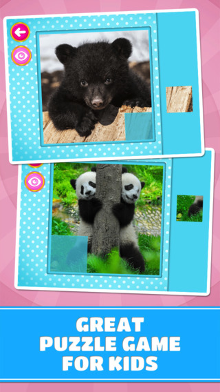 Adorable Little Bears Puzzles - Logic Game for Toddlers Preschool Kids and Little Girls