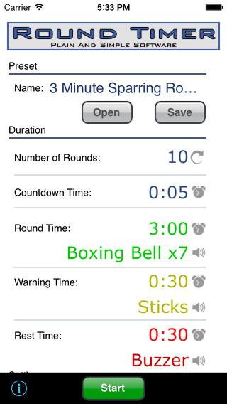 Round Timer iPhone Screenshot 1