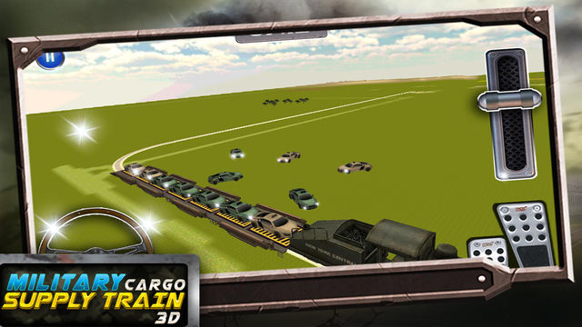Military Cargo Train Driver 3D: Transporting Simulation