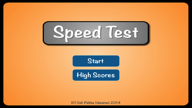 Speed Test - The Game