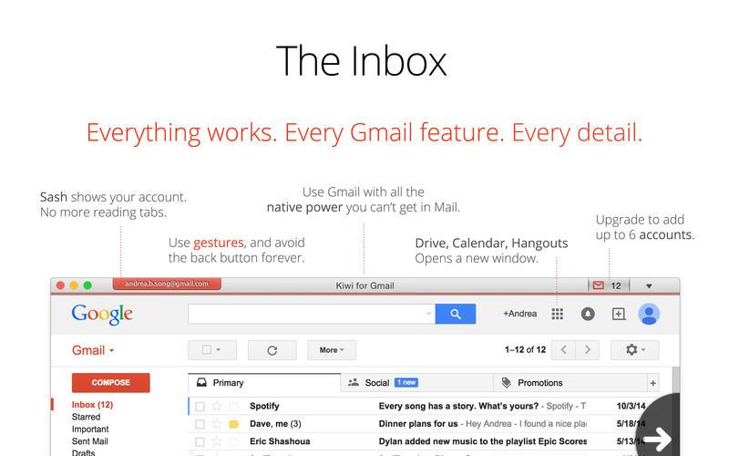 Kiwi for Gmail Lite Screenshot - 2
