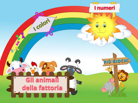 Memory Game in Italian for Kids - Flashcards to Learn: Numbers Animals Colors Vehicles Fruits Vegeta