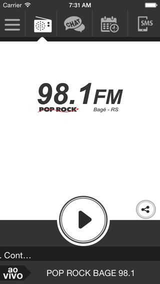 Rádio 98.1 FM - Poprock Bagé