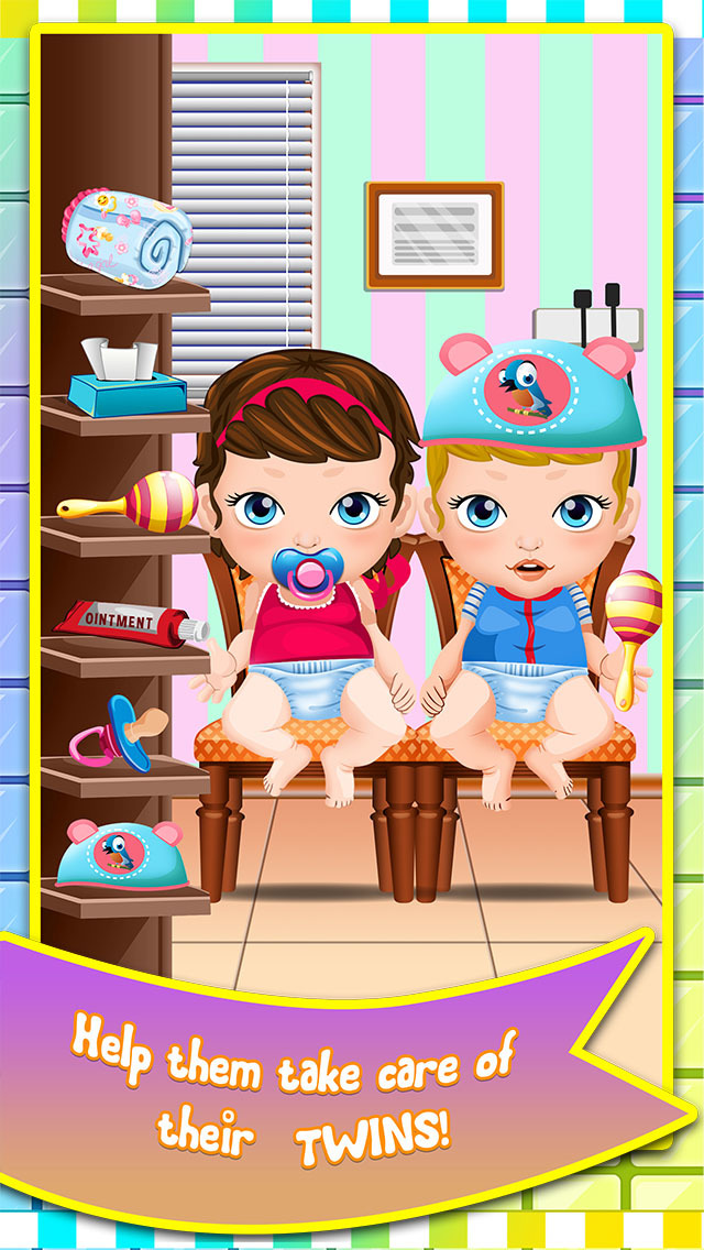 App shopper mommy 39 s newborn twins baby doctor care my for A star is born kids salon