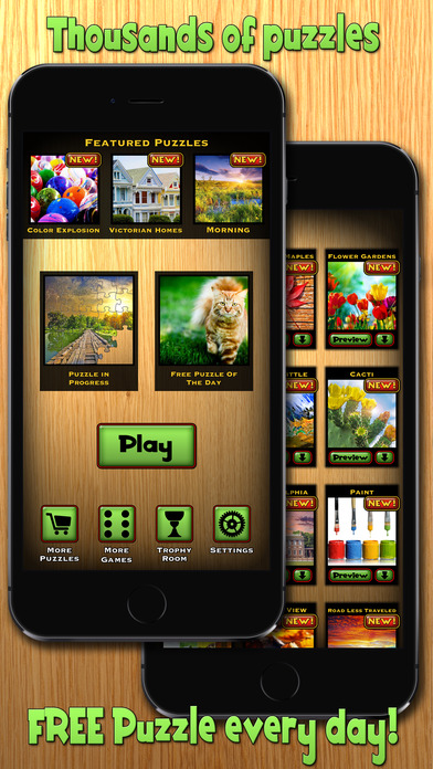 Screenshots of Jigsaw Puzzle for iPhone