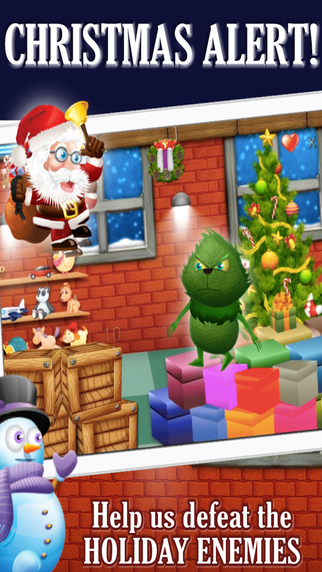 Santa's Christmas Workshop Rescue PRO: Grinch Zombie and Witch Village Knockdown Run