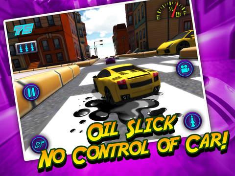 A Mini Toy Toon 3D Car Motor Racing Lightning Fast Auto Race Gamescreeshot 4