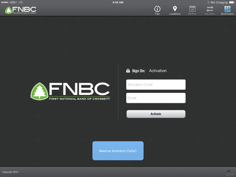 First National Bank of Crossett iPad Version