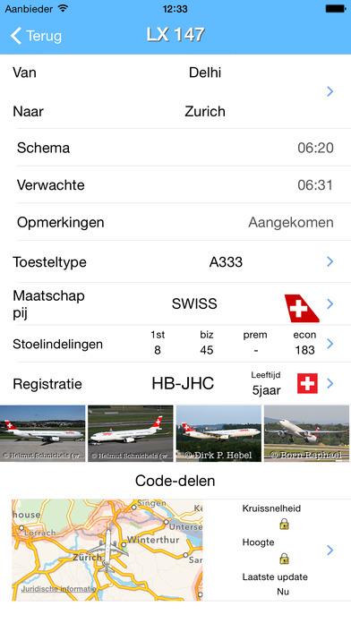 iPlane - Zurich Airport iPhone Screenshot 2