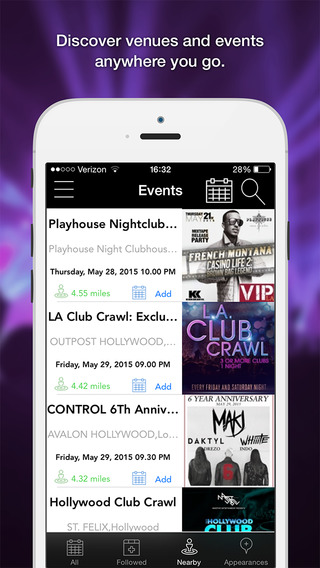 SocialNightlife — Discover nightlife local events music shows concerts festivals bars and more