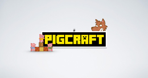 Pigcraft - Use your block building skills to protect the 3 little pigs from the big bad wolf