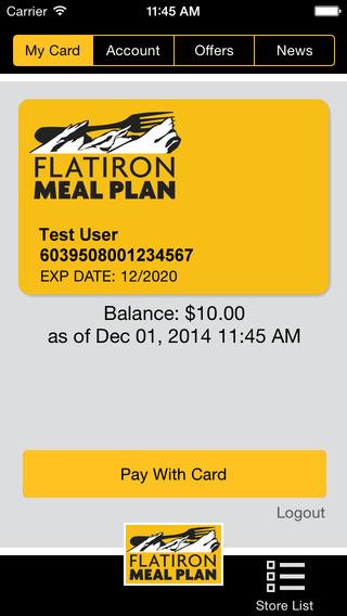 Flatiron Meal Plan - Pay-by-Phone