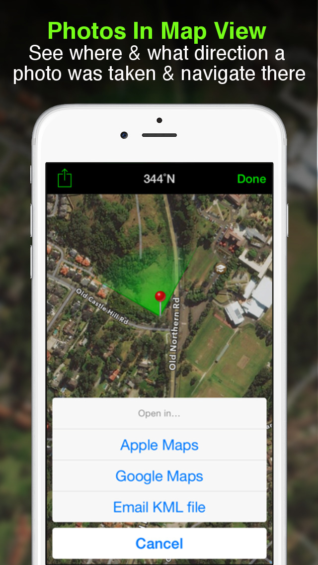 download Solocator - GPS Field Camera to stamp photos with location, direction, altitude, date, time + optional editable notes apps 4