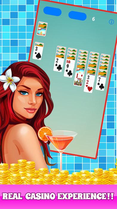 Screenshot 1 тмосфера лета в карточной игре — пасьянс «Вечеринка у бассейна»