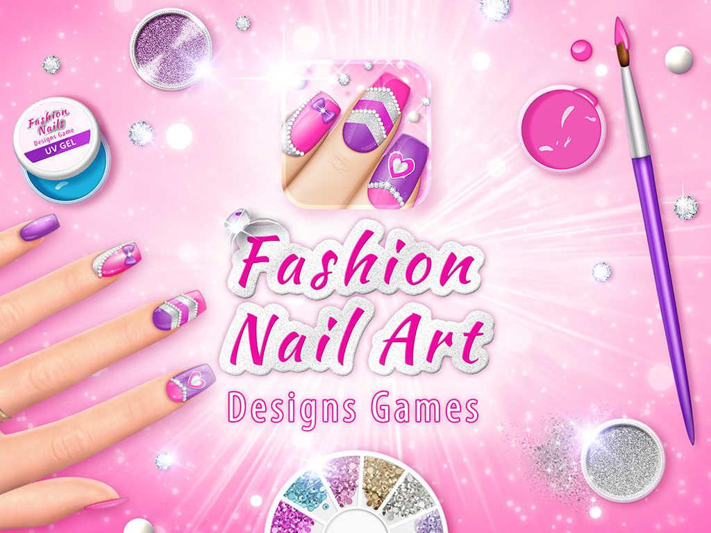 App shopper fashion nail art designs game pink nails for A list nail salon game