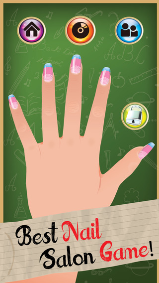 Style My Manicure High School Fashion Nails BFF Sparkles Club Game - Advert Free App