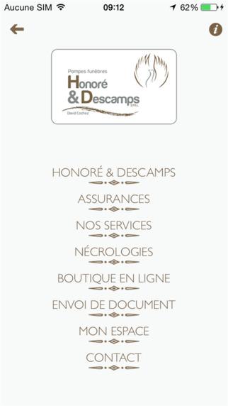 Funérailles Honoré Descamps