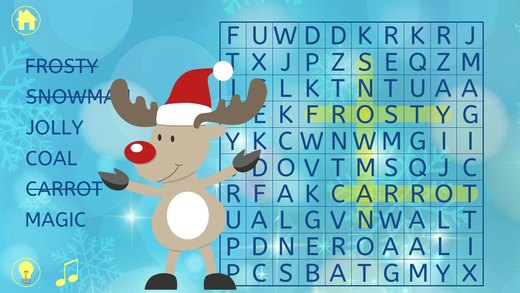 Christmas Word Search : Kids Holiday Word Find Puzzle Game