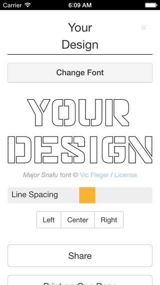 Stencil Printer: Print Full Size Art Calligraphy Designs