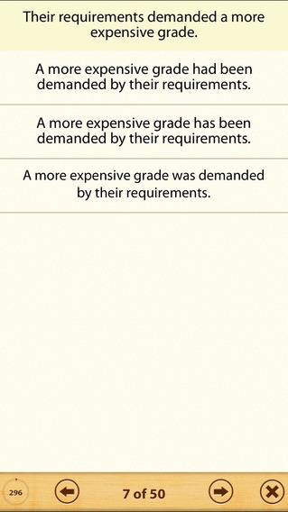 Grammar Express: Active & Passive Voice Lite iPhone Screenshot 3