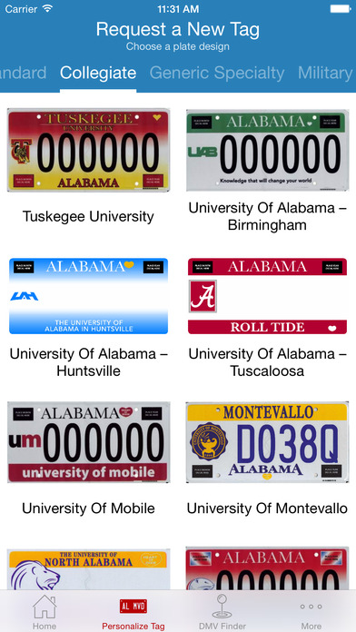 Alabama DMV iPhone Screenshot 2