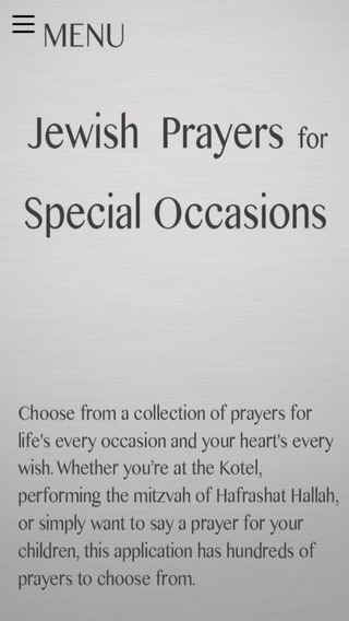 Special Prayers for Jews