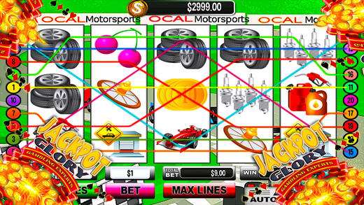 Racing Airborne Casino Slots Jackpot Speed Formula Edition