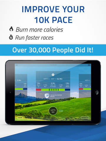 10K Pacer: Run pace training. Run faster, By Fitness22 Screenshots