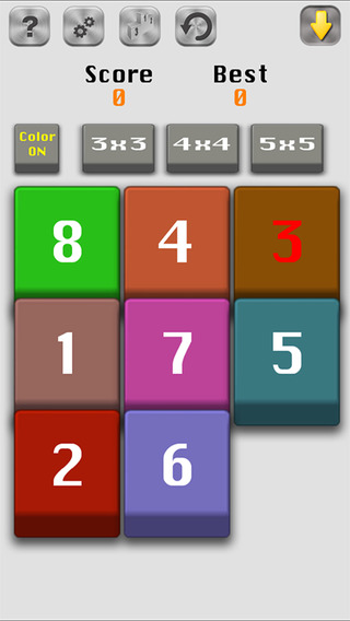 Number Slide 15 Fifteen puzzle
