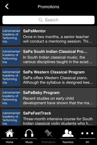 SaPa - The Official app of the Subramaniam Academy of Performing Arts.  Learn music! screenshot 4
