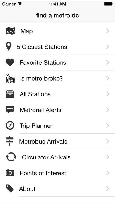 find a metro dc iPhone Screenshot 4