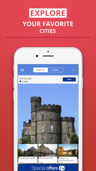 Edinburgh - your travel guide with offline maps from tripwolf guide for sights restaurants and hotel