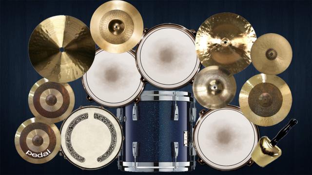 Spotlight Finger Drums FREE ~ Beautiful Drum Kit