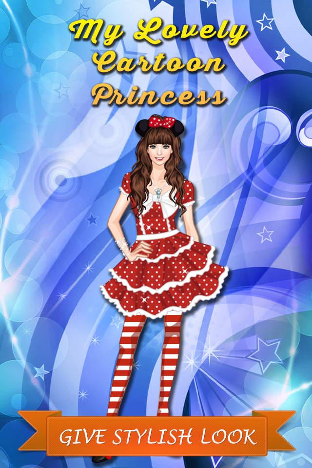 我可爱的卡通公主.打扮漂亮的女孩.