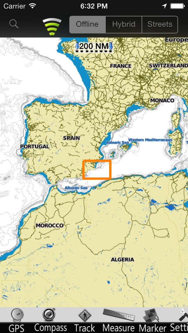 Murcia GPS Nautical charts