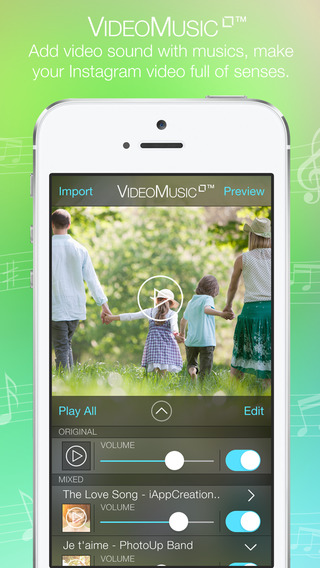 Video Background Music Square Free - Create Video Music by Add and Merge Video and Song Together and