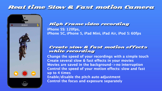 Slow Camera - Real time slow fast motion high frame camera and slow fast motion video editor