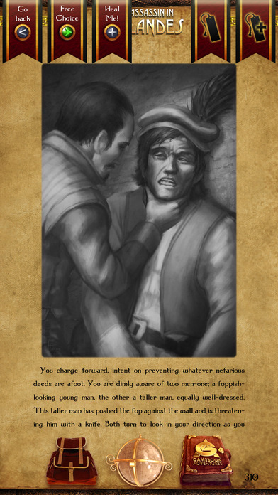 Gamebook Adventures 1: An Assassin in Orlandes iPhone Screenshot 5